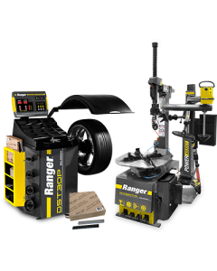 R76ATR tire changer, DST30P wheel balancer and steel tape weights