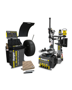 R76ATR tire changer, LS43B wheel balancer and steel tape weights