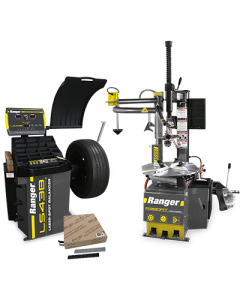 R980AT tire changer, LS43B wheel balancer and steel tape weights