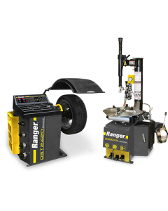 R980XR tire changer and DST2420 wheel balancer