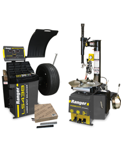 R980XR tire changer, LS43B wheel balancer and steel tape weights